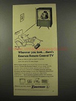 1956 Emerson Remote Control TV Ad - Wherever You Look