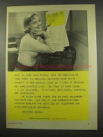 1956 Western Union Telegram Ad - Same Information