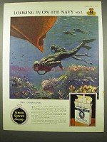 1956 Senior Service Cigarettes Ad - Navy Men Underwater