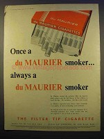 1956 Du Maurier Cigarettes Ad - Once a Smoker Always