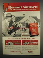 1956 Pall Mall Cigarettes Ad - Reward