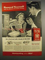 1956 Pall Mall Cigarettes Ad