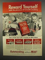 1956 Pall Mall Cigarettes Ad - Reward Yourself