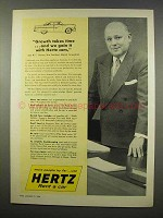 1956 Hertz Rent-A-Car Ad - Growth Takes Time