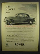 1956 Rover 105R Car Ad - This is a Rover Year