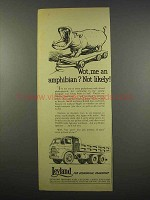 1956 Leyland Hippo Truck Ad - Wot, me an Amphibian?