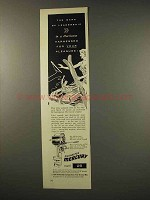 1956 Mercury Mark 25 Outboard Motor Ad - Hurricane