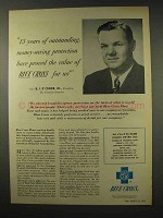 1956 Blue Cross Insurance Ad - Outstanding Protection