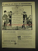 1956 American Mutual Ad - Cut Down on Autocide