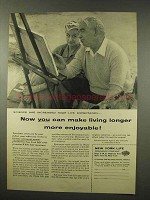1956 New York Life Insurance Ad - Make Living Longer