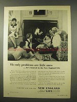 1956 New England Mutual Life Insurance Ad - Little Ones