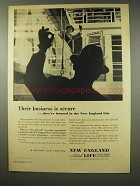 1956 New England Mutual Life Insurance Ad - Secure