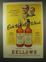 1956 Bellows Partners Choice, Club Bourbon Whiskey Ad