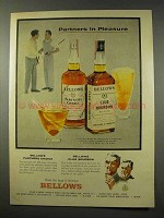 1956 Bellows Partners Choice, Club Bourbon Whiskey Ad - Partners