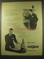 1956 Martini Vermouth Ad - Better Drink