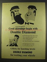 1956 Double Diamond Ale Ad - Good Evenings Begin