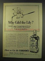 1956 Gordon's Gin Ad - Why Gild the Lily?