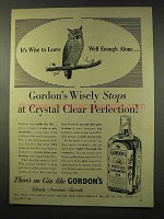 1956 Gordon's Gin Ad - Crystal Clear Perfection