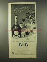1956 Benedictine B & B Liqueur Ad - Finish Dinner