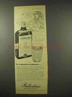 1956 Ballantine's Scotch Ad - A Question of Patience