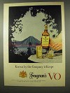 1956 Seagram's VO Whisky Ad - Known by Company