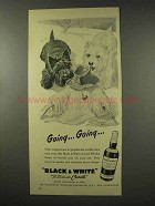 1956 Black & White Scotch Ad - Going.. Going..