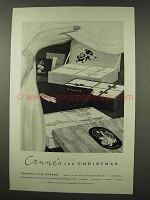 1956 Crane's Fine Papers Ad - For Christmas