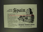 1956 Spain Tourism Ad - Dreams Come True