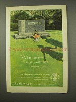 1956 Rock of Ages Memorials Ad - Meant Everything