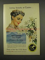1956 FTD Florist Ad - Living Beauty at Easter