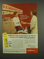 1956 National Change Computing Register Ad - Kresge's