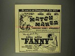 1956 Broadway Shows Ad - Match Maker, Fanny