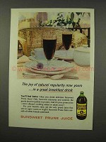 1956 Sunsweet Prune Juice Ad - Natural Regularity