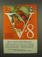 1956 V-8 Vegetable Juice Ad - Merry 8-Juice Blend