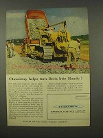 1956 American Cyanamid Ad - Turn Rock into Roads