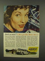 1956 Hertz Rent-a-Car Ad - Back So Soon?