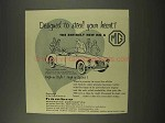 1956 MG MGA Car Ad - Designed to Steal Your Heart