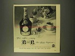 1956 Benedictine B&B Liqueur Ad - After Coffee