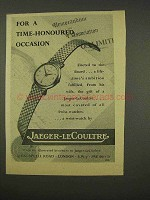 1956 Jaeger-Le Coultre Watch Ad