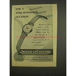 1956 Jaeger-Le Coultre Watch Ad - Time-Honoured
