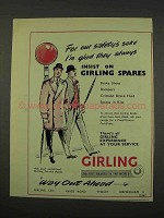 1956 Girling Brakes Ad - For Our Safety's Sake