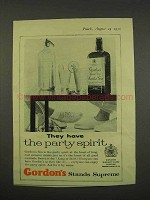 1956 Gordon's Gin Ad - They Have the Party Spirit