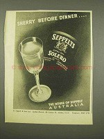 1956 Seppelts Solero Sherry Ad - Before Dinner