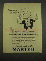 1956 Martell Cognac Ad - Ginger Ale or Soda?
