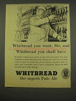 1956 Whitbread Pale Ale Ad - Sir, You Shall Have