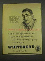 1956 Whitbread Pale Ale Ad - Ask For Two Light Ales?