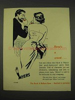 1956 Myers Rum Ad - Three's a Crowd