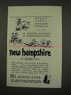 1956 New Hampshire Tourism Ad - First Choice