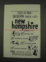 1956 New Hampshire Tourism Ad - First on Vacation