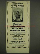 1956 Dominican International Peace and Progress Fair Ad